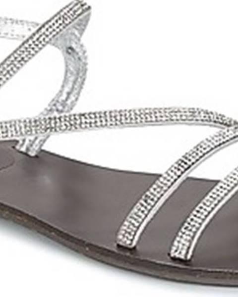 Stříbrné sandály Les Petites Bombes