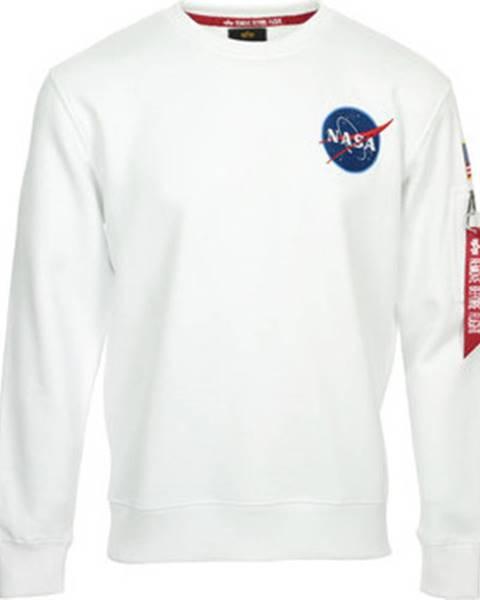 Alpha Alpha Mikiny NASA Space Shuttle Sweater Bílá