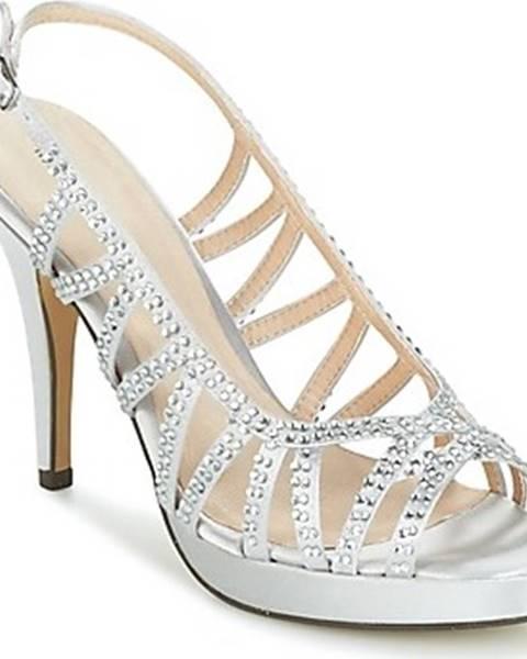 Stříbrné sandály Menbur