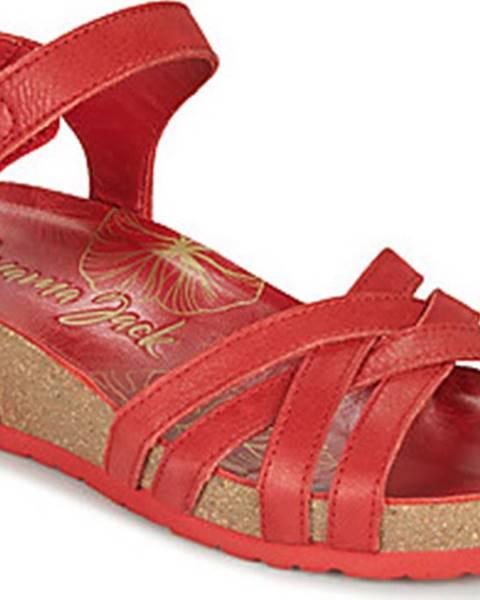 Červené sandály Panama Jack