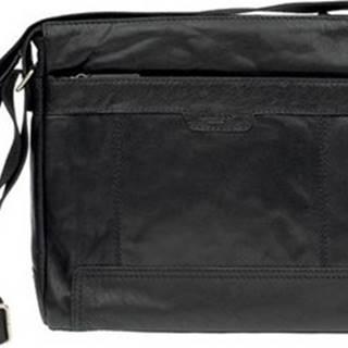 Lagen Kabelky s dlouhým popruhem LN 20653 černá kožená taška přes rameno Černá
