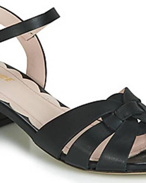 Černé sandály Miss L'Fire