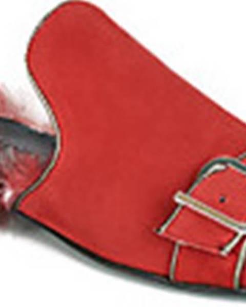 Červené pantofle Papucei