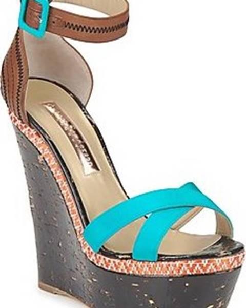 Modré sandály Rupert Sanderson