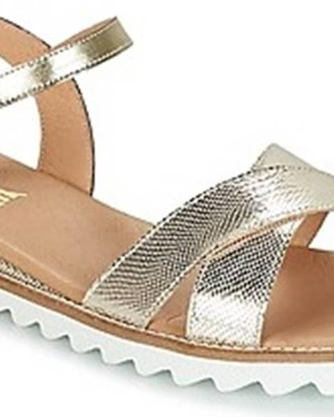 Zlaté sandály So Size