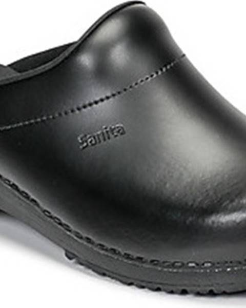 Černé pantofle Sanita