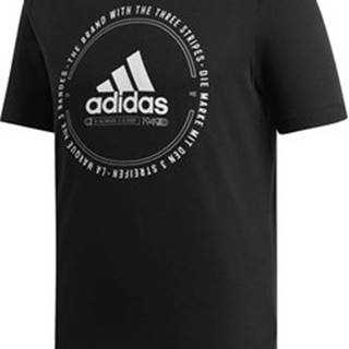 adidas Trička s krátkým rukávem Emblem Hnědá