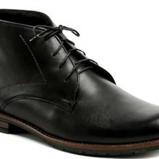 Abil Kotníkové boty Agda 638 černé pánské zimní boty Černá