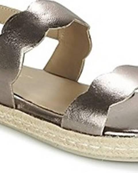 Stříbrné sandály Betty London