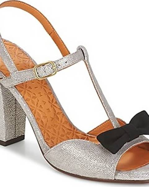 Stříbrné sandály Chie Mihara