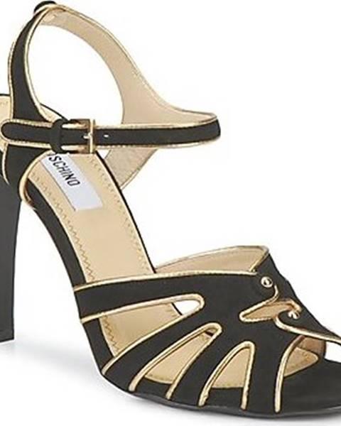 Černé sandály Moschino