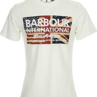 Barbour Trička s krátkým rukávem SMQ Vintage Flag Tee Bílá