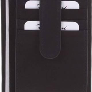 Delami Peněženky Kožená peněženka do kapsy černá - 3939 Černá