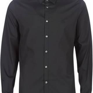 Lacoste Košile s dlouhymi rukáv CH5366 SLIM FIT Černá