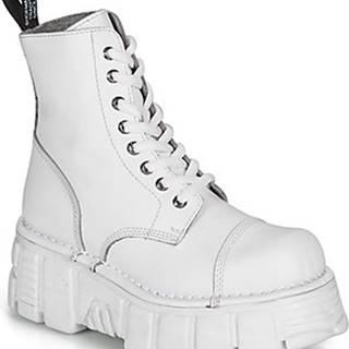 New Rock Kotníkové boty NALEYA Bílá
