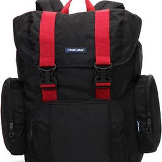 Travel Plus Batohy Velký černo červený cestovní batoh - 7503 Černá