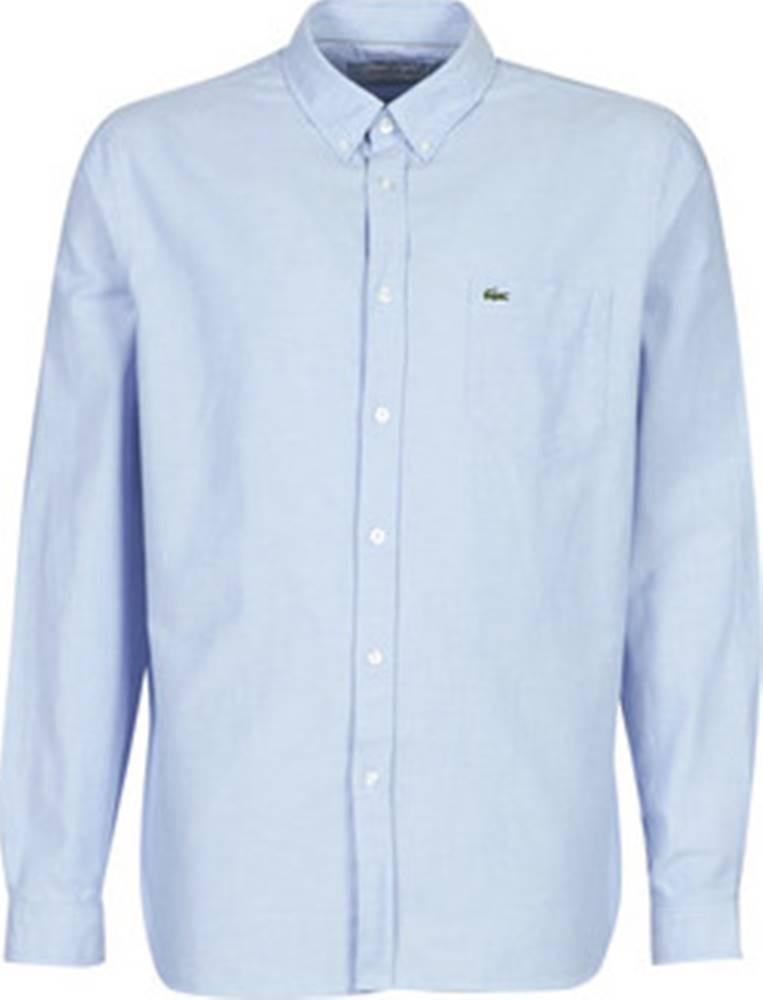 lacoste Lacoste Košile s dlouhymi rukáv CH4976 REGULAR FIT Modrá