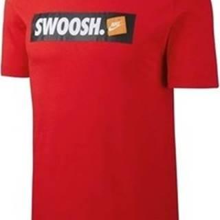 Nike Trička s krátkým rukávem Tee Swoosh Červená