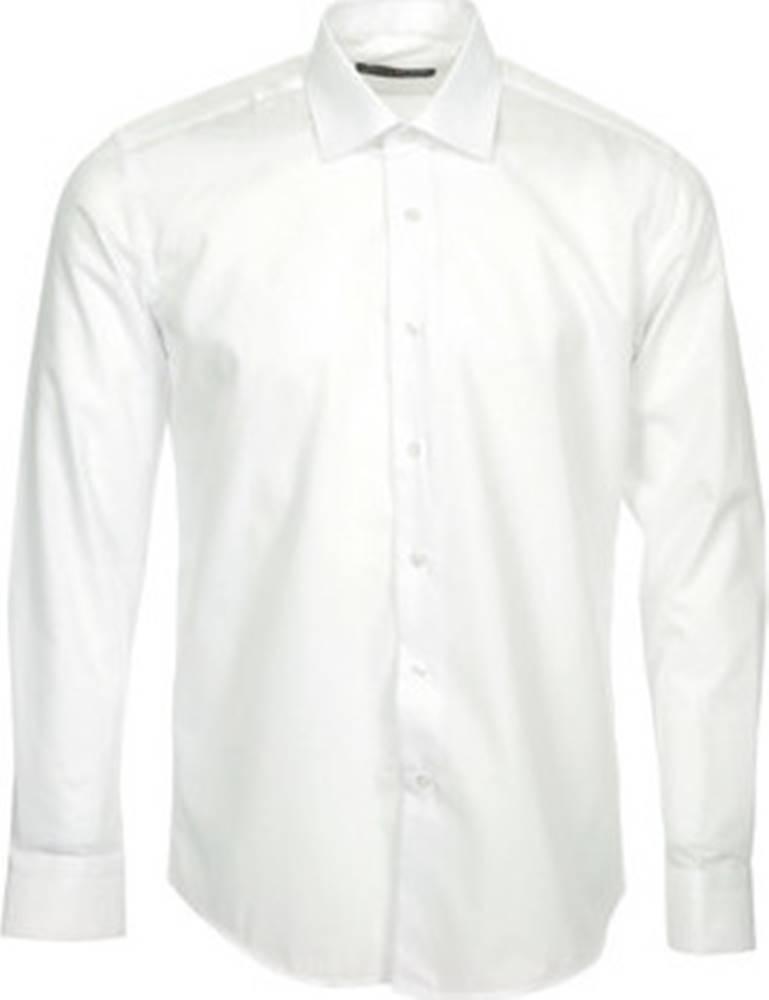 Enzo Di Milano Enzo Di Milano Košile s dlouhymi rukáv Chemise Slim Fit Blanche Bílá