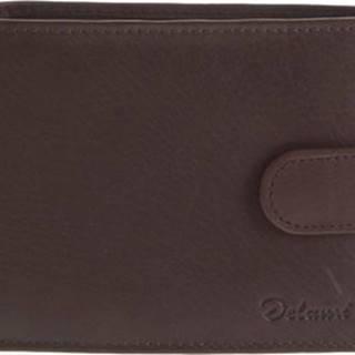 Delami Peněženky Kožená peněženka hnědá - 8693 Hnědá