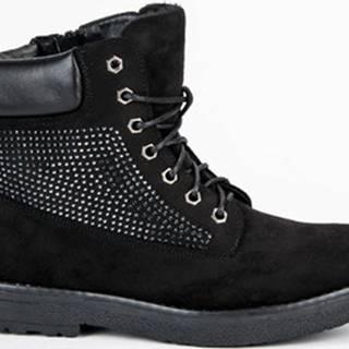 Bestelle Kotníkové boty Semišové černé farmery na zip ruznobarevne