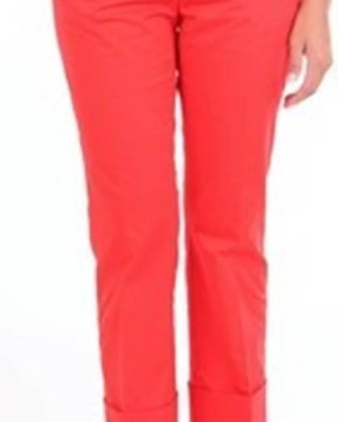 Červené kalhoty Alberto Biani