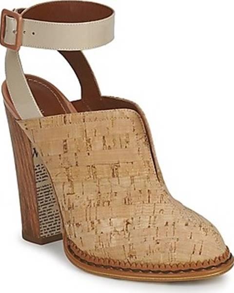 Béžové pantofle John Galliano