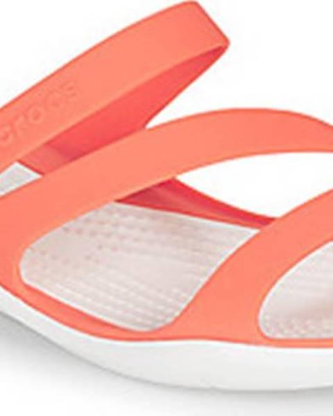 Růžové sandály crocs