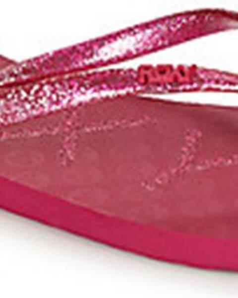 Růžové pantofle roxy