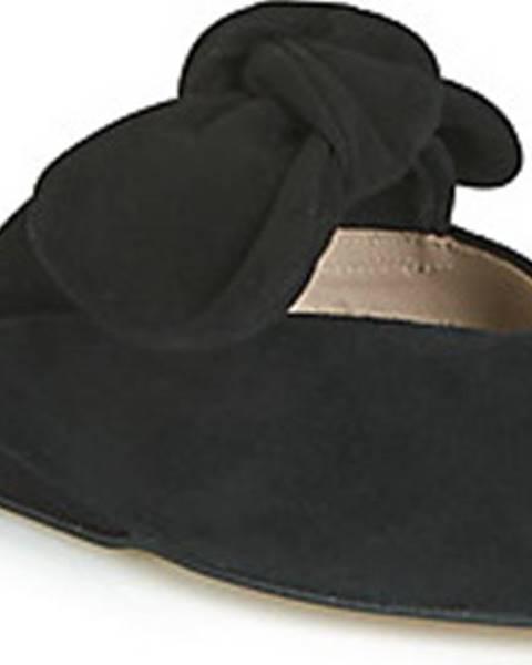 Černé pantofle Fericelli
