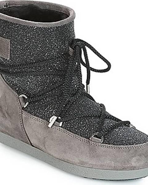 Černé boty Moon Boot
