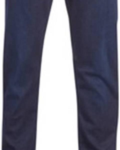 Modré kalhoty Emporio Armani