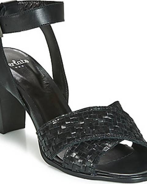 Černé sandály Perlato