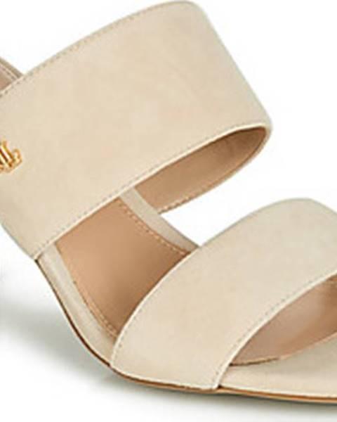 Béžové pantofle lauren ralph lauren