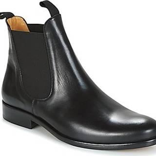 Brett Sons Kotníkové boty LOUVAL Černá