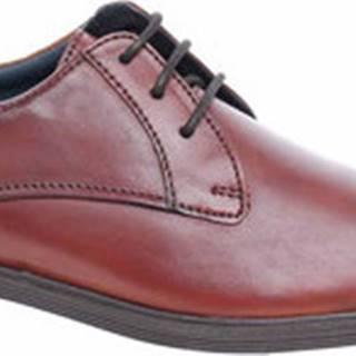 Josef Seibel Šněrovací společenská obuv Pánské polobotky 42203 786370 cognac Hnědá