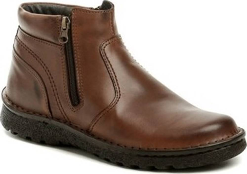 Bukat Bukat Kotníkové boty 253 hnědé pánské zimní boty Hnědá