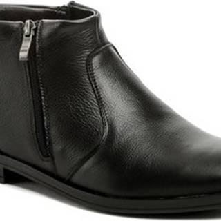 Bukat Kotníkové boty 252 černé pánské zimní boty Černá