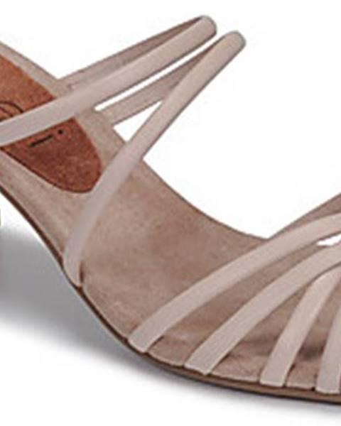 Béžové pantofle Fericelli