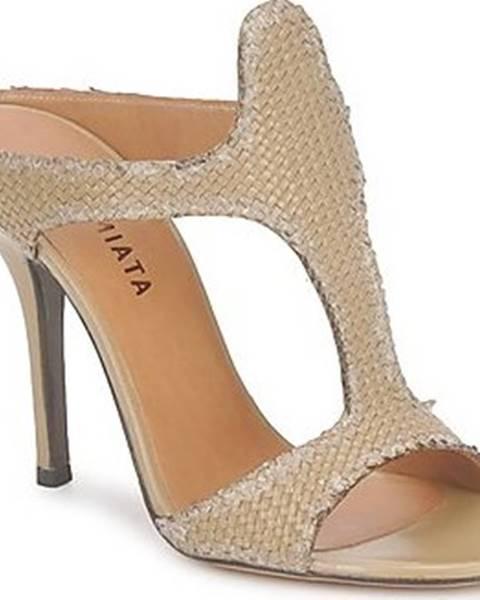 Béžové pantofle Premiata