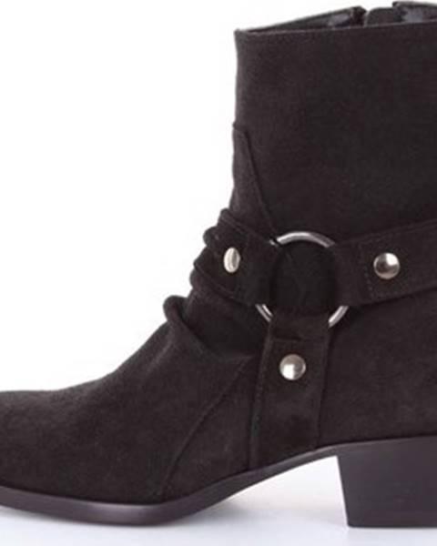 Černé boty Matt Moro
