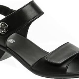 Imac Sandály 167980 černé dámské sandály na podpatku Černá