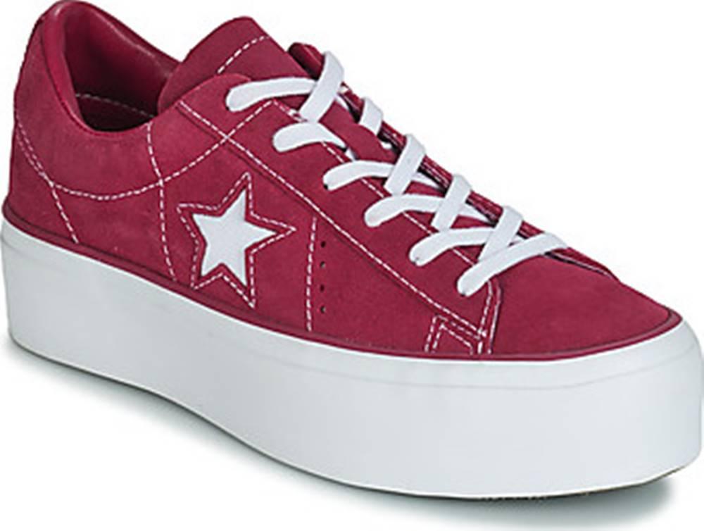 converse Converse Tenisky ONE STAR PLATFORM SUEDE OX Růžová