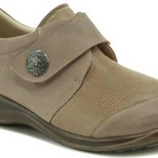 Axel Šněrovací polobotky AXCW128 béžové dámské polobotky boty šíře H Béžová