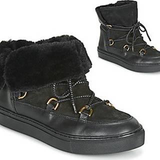 Casual Attitude Kotníkové boty LONE Černá