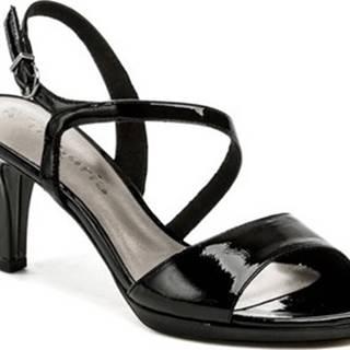 Tamaris Sandály 1-28319-22 černá laková dámská obuv Černá