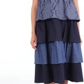 Rose A Pois Krátké šaty CACAO Modrá