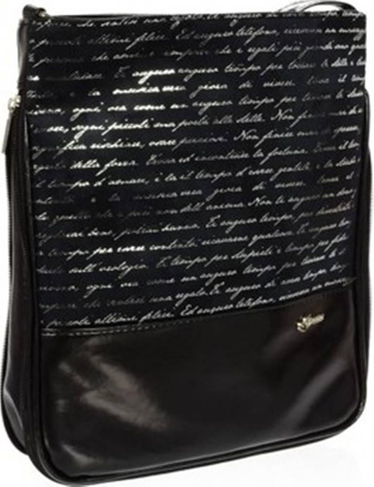 Grosso Grosso Kabelky Černá crossbody kabelka s potiskem M151 Černá