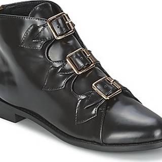 F-Troupe Kotníkové kozačky Triple Buckle Boot Černá