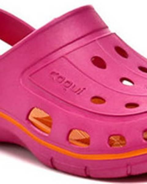 Růžové pantofle COQUI